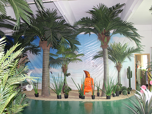 『供应厂家仿真椰子树景观装饰 大型仿真椰子树价格』